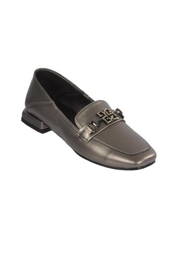 Mhd 145 Platin Kadın Günlük Ayakkabı Gümüş